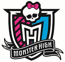 "5-7.5"" MONSTER HIGH SKULL LOGO CHARACTER WALL SAFE STICKER BORDER CUT OUT"