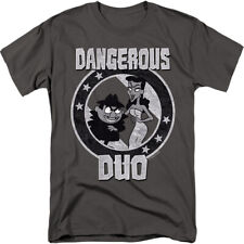 Rocky And Bullwinkle Dangerous Duo Licensed Adult Shirt S-3XL