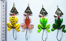 "LOT Rubber Frog Soft Fishing Lures Bass CrankBait Tackle 9cm/3.54""/6.2g New"