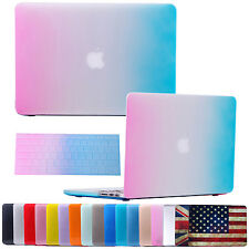 "Rubberized Hard Case Shell + Keyboard Skin for Macbook Air Pro Retina 11 13"" 15"""