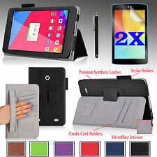 For LG G Pad 7.0 V400 / V410 LTE PU Leather Stand Case Cover + Gift Accessories