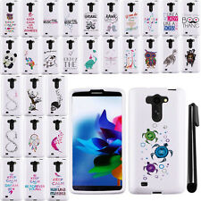 For LG G Vista VS880 G Pro 2 Lite Art Design PATTERN HARD Case Cover Phone + Pen