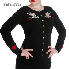 HELL BUNNY Ladies BLOODBIRD Cardigan/Top Black Goth/Halloween All Sizes