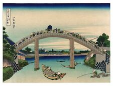 9018.Japanese people crossing across bridge.POSTER.decor Home Office art