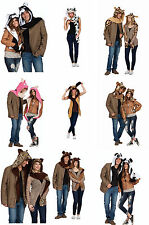 GIRAFFE PANDA PIG DOG CAT CHEETAH COW BEAR ANIMAL COSTUME HAT HOODIE HOOD SCARF