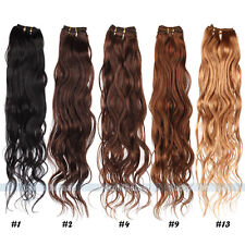 "12""-28"" Brazilian Remy Virgin Wave 100% Real Human Hair Weaving Weft Extensions"