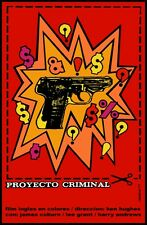 9234.Proyecto criminal.english film.coupon with gun.POSTER.decor Home Office art