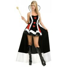 Queen of Hearts Costume Adult Sexy Alice in Wonderland Halloween Fancy Dress