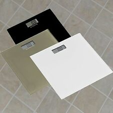 GLASS PLATFORM DIGITAL ELECTRONIC GLASS LCD WEIGHING BODY SCALES BATHROOM