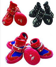 Good Quanlity New Style Cozy Small Pet Dog Heart Boots Puppy PU Shoes SIZE #1-#5