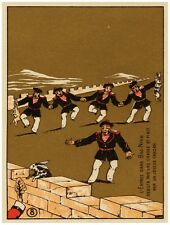 9473.Five Men dancing on great wall holding rabbit.POSTER.decor Home Office art
