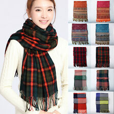 Free Shipping Hot Sale New Winter Women's Wool Cashmere Plaid Shawl Scarf Wrap
