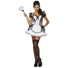 Luxe French Maid Costume Halloween Fancy Dress