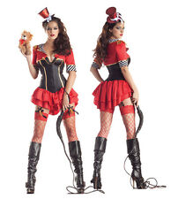 Sexy Womens Body Shaper Lion Tamer Circus Showgirl Costume Halloween Party Dress