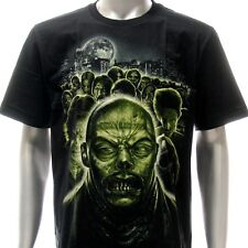 r155 Sz M L XXL Rock Eagle T-shirt Tattoo Skull Glow in Dark Zombie Walker Indie