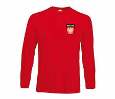 Poland Polska Polish Long Sleeved Football Soccer Team T-Shirt (All Sizes)