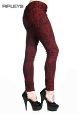 BANNED CLOTHING Punk Skinny Jeans Goth VICTORIAN Red All Sizes