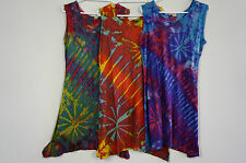 Womens Tie dye hippie rainbow top ladies Nepal  hippy Viscose beach wear casual