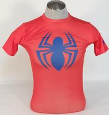 Under Armour Moisture Wicking Spiderman Red Compression Shirt Mens NWT