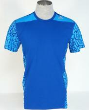 Adidas ClimaLite Techfit Base Blue Short Sleeve Fitted Athletic Shirt Mens NWT
