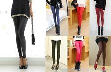 Fashion Sexy Women Matte Faux Leather Leggings Stretchy Tights Pants Lots Colors