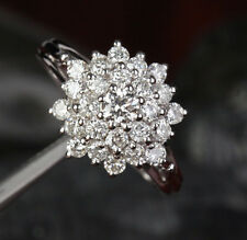 Size 6-10 Lady's 10KT Gold Filled White Sapphire Diamonique Stone Flower Ring