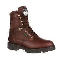 "Georgia G107 Men's 8"" Medium Brown Homeland Steel Toe Waterproof Work Boots"