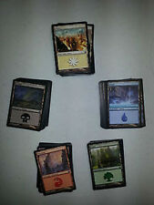 ALL 5 TYPES COLORS  Basic Land Lot  CHOOSE  QUANTITY EX/NM Collection Magic  MTG