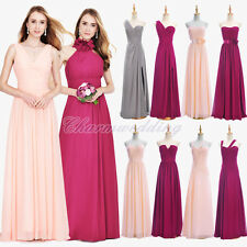 Long Chiffon Bridesmaid Dress Ball Gown Prom Evening Party Dress & Kids Dress