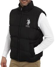 NEW US POLO ASSN MENS PREMIUM ATHLETIC CLASSIC PUFFER ZIP UP BIG PONY BLACK VEST