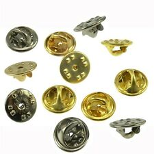 Lot 75 Choice Gold Chrome Lapel Pin Butterfly Clutch Military Clasp Fastener