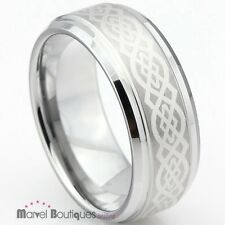 New 7mm Men Women Tungsten Carbide Celtic Knot Wedding Band Ring Size 5-13 (084)