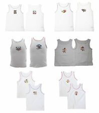 BOYS & GIRLS VESTS | Kids Characters (Pack of 2) Sizes From 18 Months-8 Years
