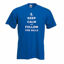 Gillingham FC Keep Calm And Follow The Gills Football T-Shirt - All Sizes