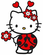 """6.5-10"""" HELLO KITTY LADYBUG CHARACTER WALL SAFE STICKER BORDER CUT OUT"""