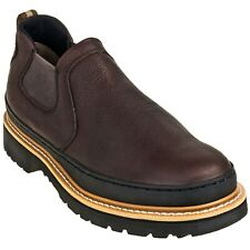 Men's CHINOOK WORKHORSE ROMEO Brown Leather Loafers Slip on Work Shoes/Boots New