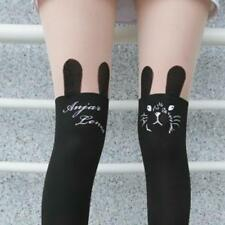 Spandex Sheer Semi-Opaque Cute Rabbit Faux Stockings Pantyhose Tights Slim Punk