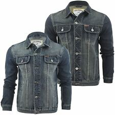 Mens Denim Jacket By Soul Star 'Leonard' Classic Vintage Wash Jean Coat