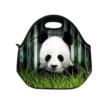 Panda Neoprene Travel Picnic Food Insulated Lunch Tote Cooler Bag Handbag Pouch