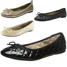 Women's Ballet Flats Patent Leather Ballerina Slippers Slip On Comfort Shoes New