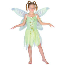 Childrens Green Tinkerbell Neverland Fairy Girls Fancy Dress Up Party Costume