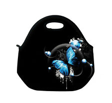 Blue Butterfly Insulated Tote Thermal Lunch Bag/Cool Bag/Cooler/Picnic Lunch Box