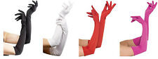 Elbow Length Jersey Fabric Gloves - Sheer Desires - 4 Color Choices - fnt