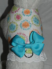 DOG CAT FERRET Custom Couture Harness~Inspirational LOVE FAITH HOPE Aqua Bow