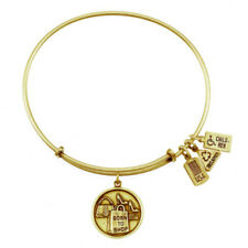 Wind & Fire Charm Wire Bangle Adjustable Bracelet Silver/Gold Born to Shop WF245
