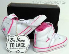 CONVERSE CT PC INFANTS GIRLS LOOP LACE WHITE SLIP ONS TRAINERS, SHOES UK 5 to 10