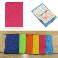 Candy Color Sweet PU Leather Passport Cover Protector ID Credit Card  Wallet New
