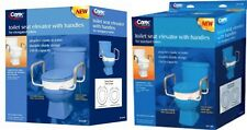 Carex Toilet Seat Elevator, Raised Toilet Seat, Option for Round or Enlogated