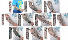10pc Stylish Sleeves Body Art Arm Stockings Fake Temporary Tattoo