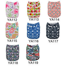 Hot print Alva Reusable Baby Washable Adjustable Cloth Diaper Nappy with Insert